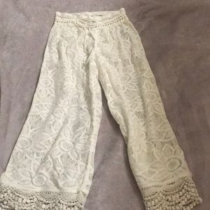 Aerie white cover up beach pants